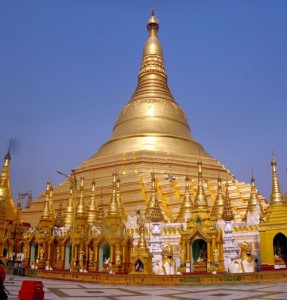 Shwedagon Paya (or Pagoda) in Myanmar